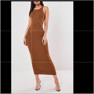 🔵Hot Cocoa Sleeveless Slinky Maxi Dress